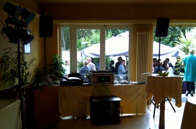 Ein möglicher Aufbau auf Ihrer Feier - DJ Sylt
